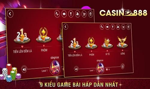 Những game bài hấp dẫn trong Casino888