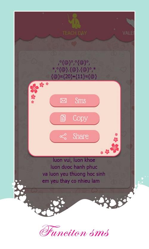 SMS Kute - tin nhắn tình yêu nhiều tính năng độc lạ