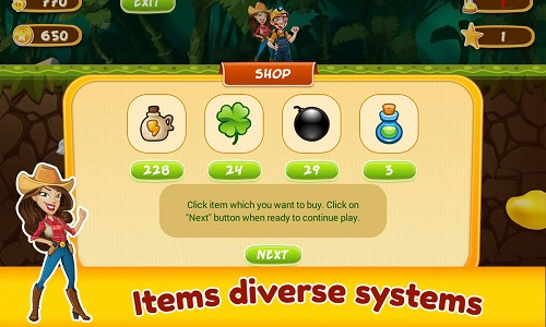 Shop các vật phẩm hỗ trợ trong game đào vàng