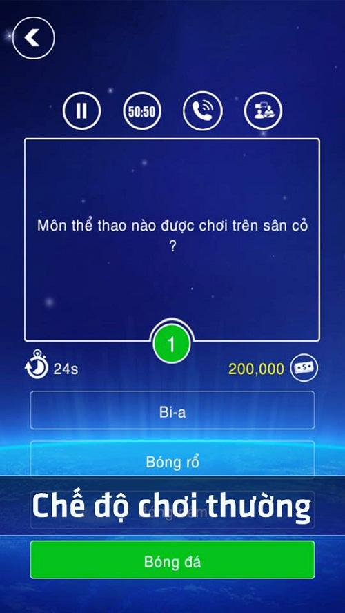 Game trí tuệ Ai là triệu phú