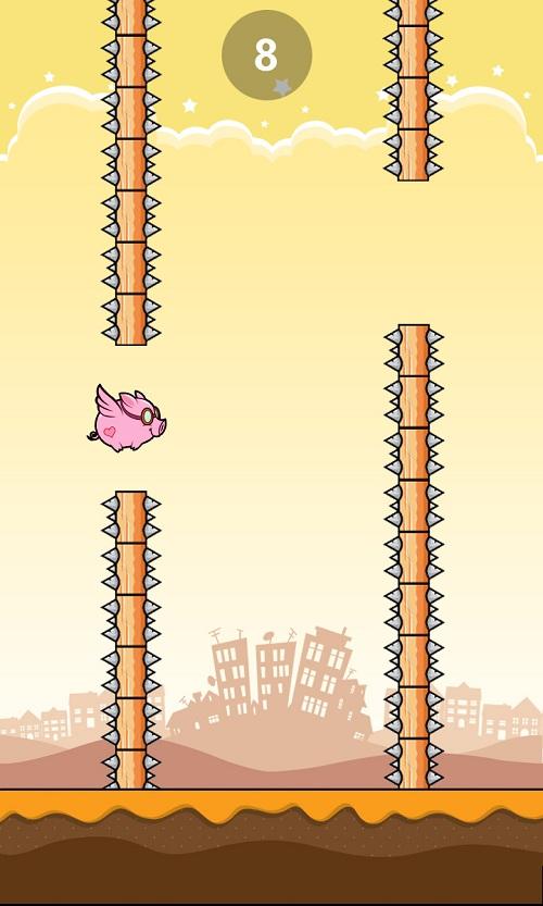 Flappy pig và các chướng ngại vật