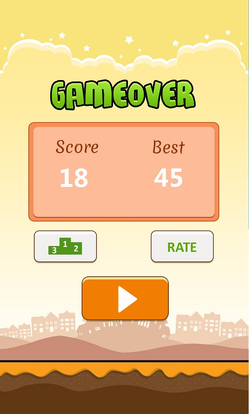 Xếp hạng trong Flappy pig