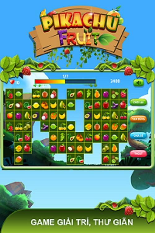 Game giải trí Pikachu hoa quả 2016