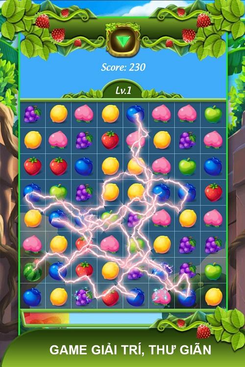 Game giải trí Kim cương hoa quả.