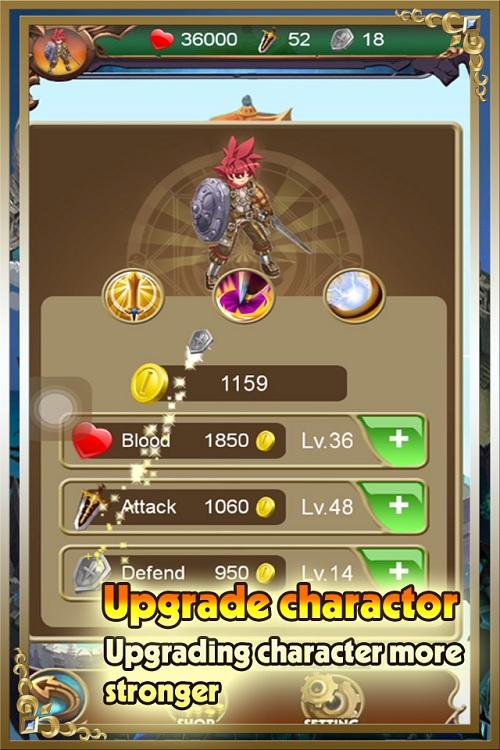 Update nhân vật trong Kim cương offline