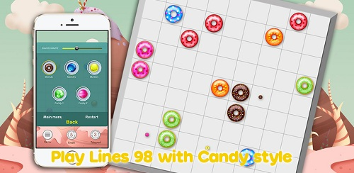 Play lines 98 with candy style