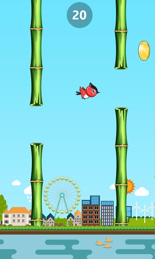 Flappy bird phiên bản mới và các chướng ngại vật