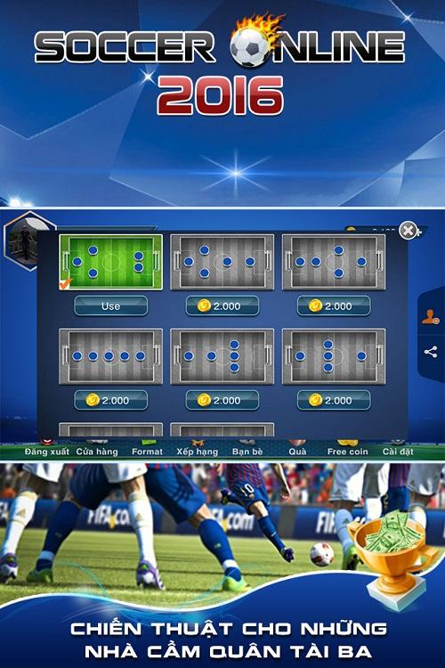 Thử tài cầm quân cùng game bóng đá online