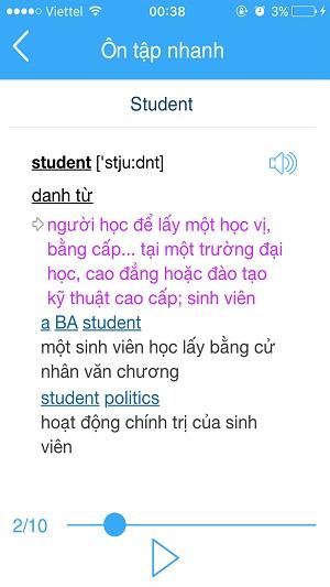 Ôn tập nhanh cùng Từ điển Anh Việt