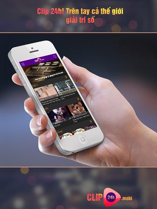 Ứng dụng xem phim online Clip24h