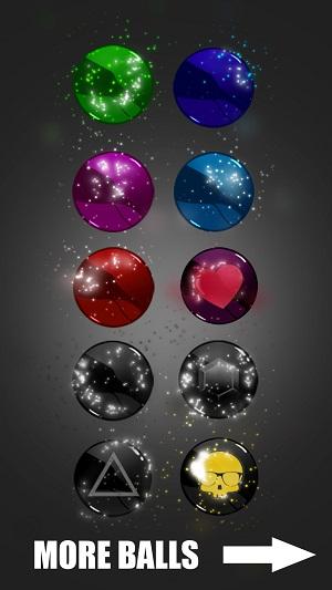 Bộ sưu tập bóng của Sticky Balls.