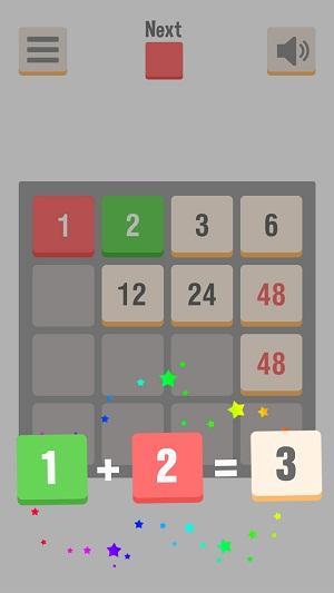 Giao diện của game 2048 phiên bản mới.